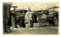 Kepler and Pauline Van Evera at a station outside of Hangzhou starting for Mokanshan, June 1913.