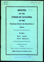 Synod of Catawba minutes, 1927.