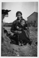 Navajo woman and her baby.
