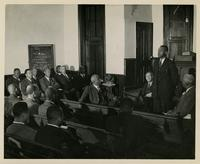 Leonard A. Ellis being examined by Presbytery, before 1946.