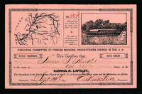 Stock certificate for Lapsley.