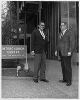 Reverend John W. Brooks and Reverend J. Dwight Russell in front of the Interchurch Center.