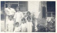 Alice Carpenter and her neighbor's family.