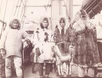 Eskimo visitors on the Cutter Bear.