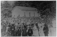 Short Creek Cumberland Presbyterian Church dedication service, 1895.
