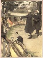 Reverend Charles Beatty and Reverend George Duffield preaching to the Indians on the banks of the Muskingum River.