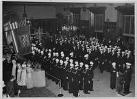 Navy service at Second Presbyterian Church, Newark, N.J., 1947.