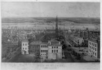 View of St. Louis, Missouri, around 1865.