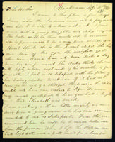 Letter to Daniel Wells from Peter Dougherty, Mackinac, September 10, 1841.