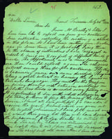 Letter to Walter Lowrie from Peter Dougherty, Grand Traverse, July 26, 1842.
