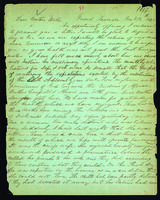 Letter to Daniel Wells from Peter Dougherty, Grand Traverse, January 18, 1843.