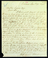 Letter to Walter Lowrie from Peter Dougherty, Omena, January 31, 1865.