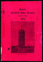 Elizabeth Blake Hospital, Soochow, China annual report, 1924.